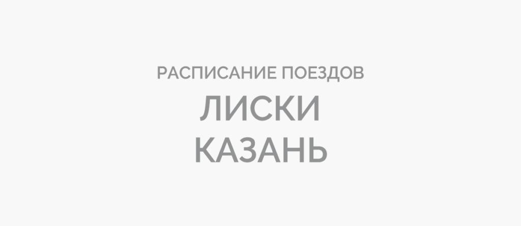 Поезд Лиски - Казань