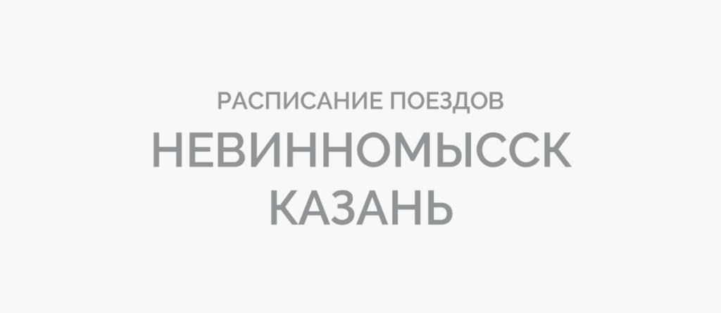 Поезд Невинномысск - Казань