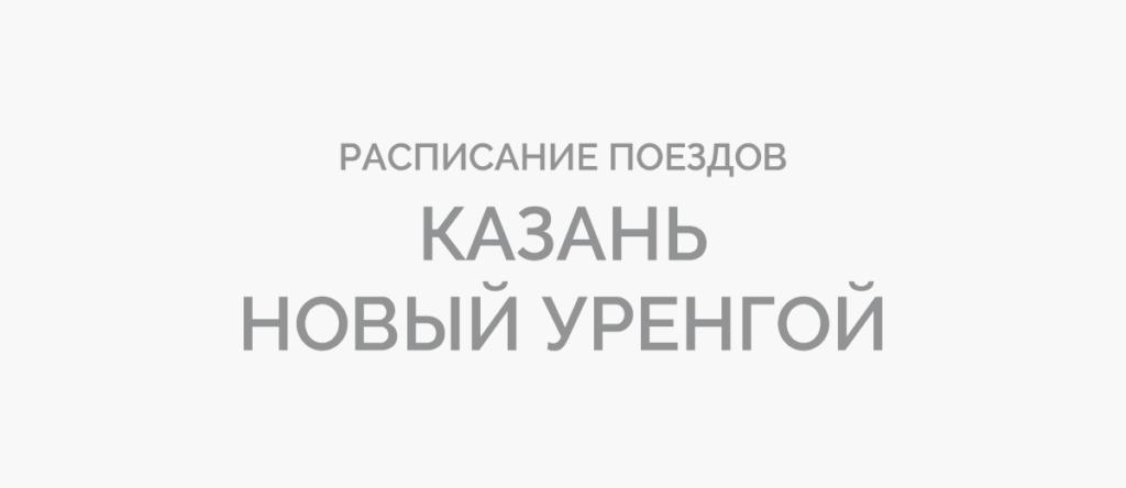 Поезд Казань - Новый Уренгой