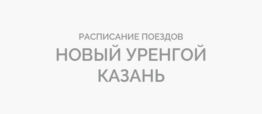 Поезд Новый Уренгой - Казань