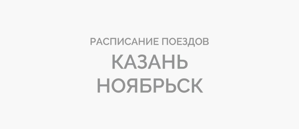 Поезд Казань - Ноябрьск