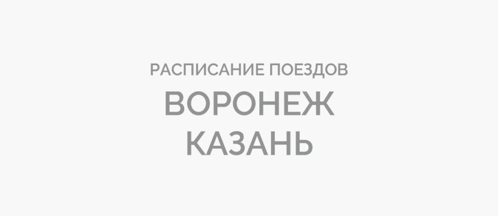 Поезд Воронеж - Казань